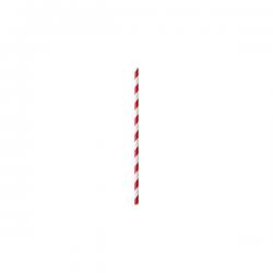 Pajita de papel nupik rojo