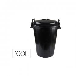 Cubo de basura negro con...